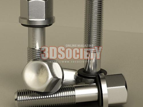 3D модель  Болт