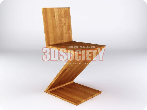 3D модель  Cassina Zig Zag Studio Shot