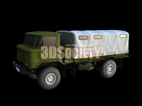 3D модель GAZ 66