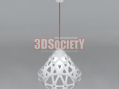 3D модель  Подвесной светильник ZAHA LIGHT
