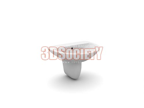 3D модель  раковина