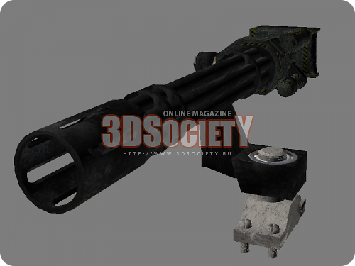 3D модель  шестиствольной пушки