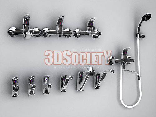 3D модель Смесители