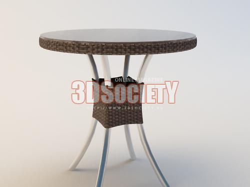 3D модель  Стол из ротанга
