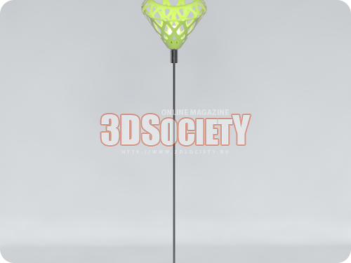 3D модель  Торшер ZAHA LIGHT