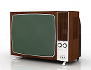 3D модель 1970г. Телевизор