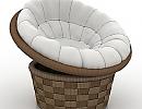 3D модель Armchair Round