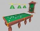 3D модель  Бильярдный стол