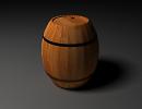 3D модель  бочка деревянная