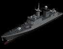 3D модель  боевой корабль