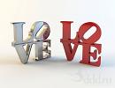"3D модель  Буквы ""Love"""