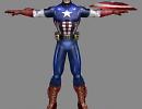 3D модель  capitan america