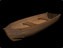 3D модель  деревянная-лодка