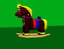 3D модель детская лошадка-качалка