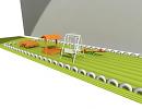 3D модель  детская площадка