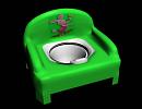 3D модель детский ночной горшок-стульчик
