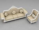 3D модель Диван и кресло классика