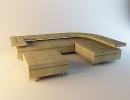 3D модель  Диван и пуф Tonin Casa