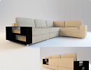 3D модель  диванчик