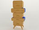 3D модель  dresser - stool