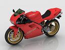 3D модель Ducati 916 мотоцикл