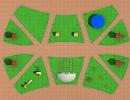 3D модель  двор