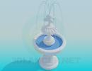 3D модель  фонтан
