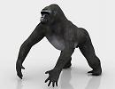 3D модель Горилла