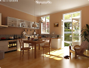 3D модель  Интерьер кухни