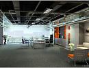 3D модель  интерьер офиса