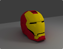 3D модель  iron man helmet