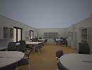 3D модель  кабинет сотрудников