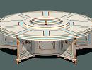 3D модель  классический стол