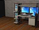 3D модель  компьютерная стойка
