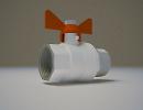 3D модель  кран шаровый