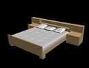 3D модель  кровать с тумбами