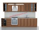 3D модель  кухня классика