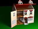 3D модель  кукольный домик