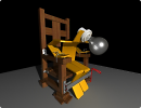 3D модель  ламочка на допросе