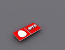 3D модель  лого МТС
