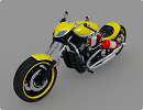 3D модель  Мотоцикл Harley Davidson Custom