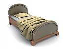 3D модель  одноместная кровать