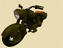 3D модель  old motorcycle in world war 2