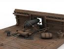 3D модель Орудие корабельное 24 фунта