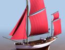 3D модель  парусный корабль