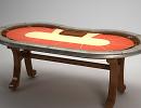 3D модель  Покерный стол