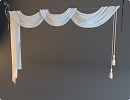 3D модель штора на кованном карнизе