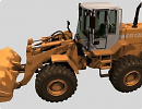 3D модель Трактор-погрузчик