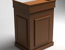 3D модель  тумба ораторская