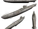 3D модель  подводная лодка U-99